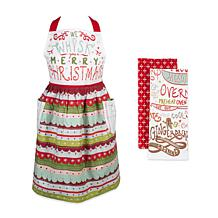 Design Imports We Whisk You A Merry Christmas 3-piece Apron Gift Set
