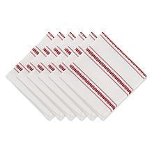 Design Imports Zig Dobby Stripe Napkin Set 6-pack