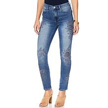 DG2 by Diane Gilman Virtual Stretch Tonal Embroidered Jean