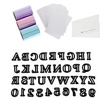 Diamond Press Alphabet Dies with Glitter Foil and Adhesive