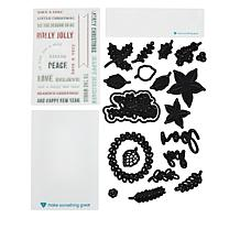 Diamond Press Christmas Foliage  Stamp and Die Set