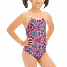 Dolfin Uglies Girl's Printed Keyhole Back 1-piece Swimsuit