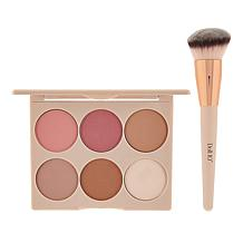 Doll 10 Cheek-to-Chic 6 Shade Contour Palette with Brush