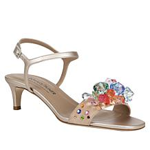 Donald J. Pliner Delia Jeweled Leather Dress Sandal