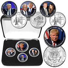 """Donald Trump 45th President"" Colorized Coin Collection"