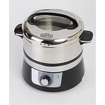 Euro Cuisine Electric Stainless Steel Food Steamer - Black