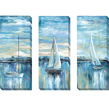 """""""Evening Bay"""" Series by Nan Giclée Art - Set of 3"""