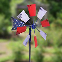 Field Smith Patriotic Windmill Kinetic Spinner Stake