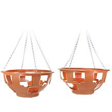 """FieldSmith 2-pack of 15"""" Ultimate Hanging Planter Baskets"""