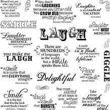 Fiskars Quote Clear Stamps - Laugh With Me