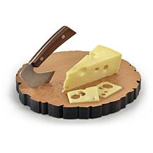 Fred and Friends Cheese Log Board and Knife Set