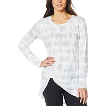 G by Giuliana Jet Set G Slub-Knit Knot Front Tunic