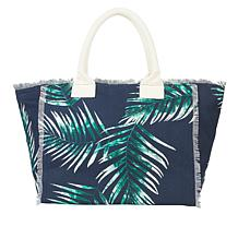 G by Giuliana Palm Print Canvas Tote