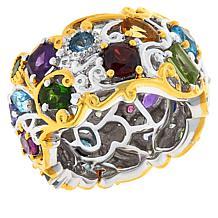 Gems by Michael Sterling Silver Carnival Multigemstone Band Ring