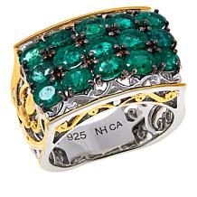 Gems by Michael Valitutti Three-Row Scrollwork Ring
