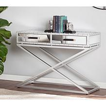 Georgeanne Industrial Mirrored Console Table