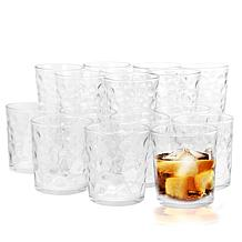 Gibson Home Great Foundations 16pc Tumbler Set - Bubble Pattern