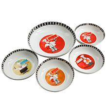 Gibson Home Mini Chefs 5-piece Pasta Bowl Set