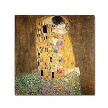 'The Kiss' by Gustav Klimt Canvas Art Print