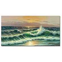 "Rio 'Waves I' Canvas Art Print - 32"" x 16"""