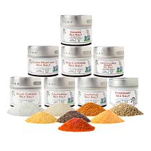 Gustus Vitae 8-pack of Gourmet Sea Salt Blends with Gift Box