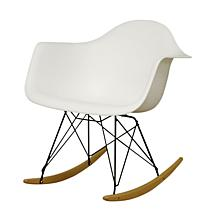 Hailey Blue Plastic Rocking Chair
