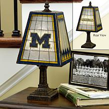 Handpainted Art Glass College Team Table Lamp