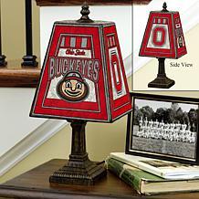 Handpainted Art Glass Team Lamp - Ohio State - College