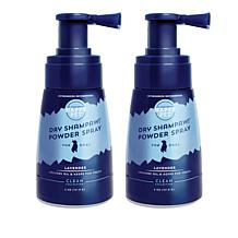 Happy Pet Clean Collection 2pk Dry Shampaw Powder Spray