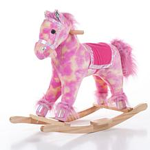 Happy Trails Plush Pink Rocking Pony