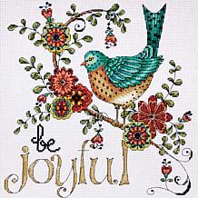 "Heartfelt Be Joyful 10"" x 10"" Counted Cross Stitch Kit"