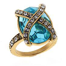 Heidi Daus Aqua-Color Crystal Collar Ring
