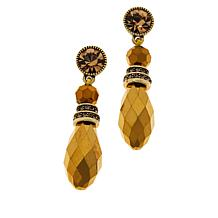 "Heidi Daus ""Beautiful Baroque"" Crystal Drop Earrings"