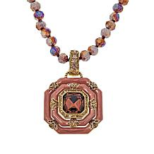 """Heidi Daus """"Day and Night"""" Crystal and Enamel Pendant and Necklace"""