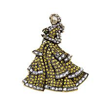 Heidi Daus Disney's Beauty and the Beast Crystal Pin