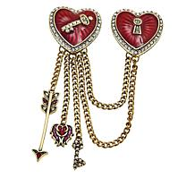 "Heidi Daus ""Love & Sparkle"" Crystal and Enamel Pin"
