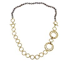 """Heidi Daus """"New Wave"""" Bead and Chain Convertible Necklace"""
