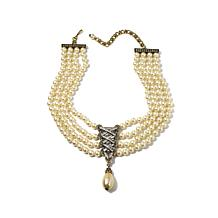 """Heidi Daus """"Straight Laced"""" 4-Strand Drop Necklace"""