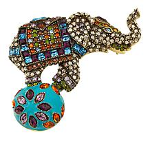 """Heidi Daus """"Top of the World"""" Enamel and Crystal Pin"""