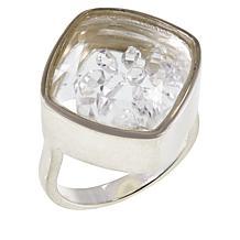 "Herkimer Mines ""Diamond"" Quartz Shaker Ring"