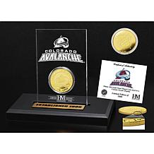 Highland Mint Colorado Avalanche Gold Coin Etched Acrylic