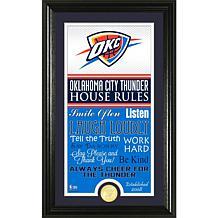 """Highland Mint """"House Rules"""" Coin Photo Mint - Oklahoma City Thunder"""