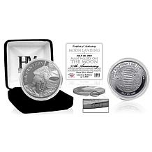 "Highland Mint Moon Landing ""Man Walks on the Moon"" Silver Mint Coin"