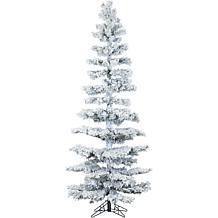 Hillside Slim 7-1/2' Flocked Pine Christmas Tree