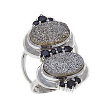 Himalayan Gems™ Gray Drusy and Black Spinel Ring