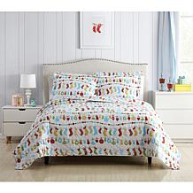 Holiday Printed Reversible Quilt Set