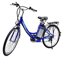 iDeaPLAY 24 Electric Cruiser Bike with Light and Inflator