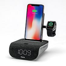 iHome TIMEBASE PRO+ Triple Charging Bluetooth Alarm Clock