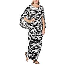 IMAN Global Chic Caped Zebra-Print Maxi Dress