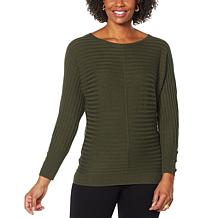IMAN Global Chic Dolman-Sleeve Scoop Neck Pullover Sweater